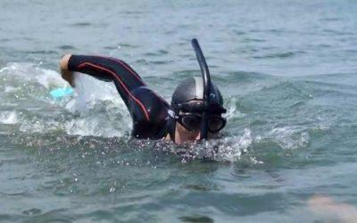 Ele atravessou o Atlântico a nado. Ou quase isso